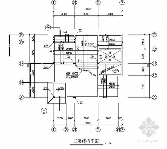 砌体结构农村住宅结构施工图(三层 坡屋顶)