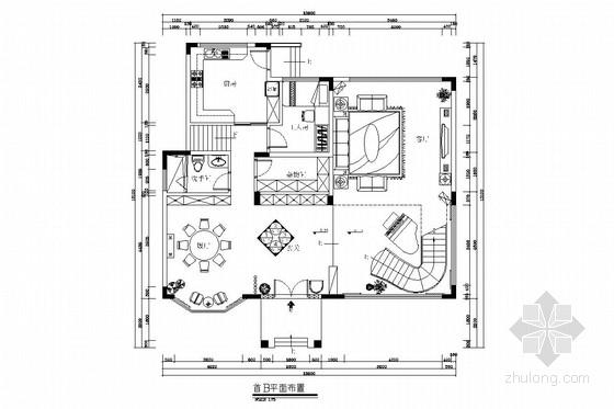 [广州]山水之间新中式风格三层别墅装修图(含效果图)