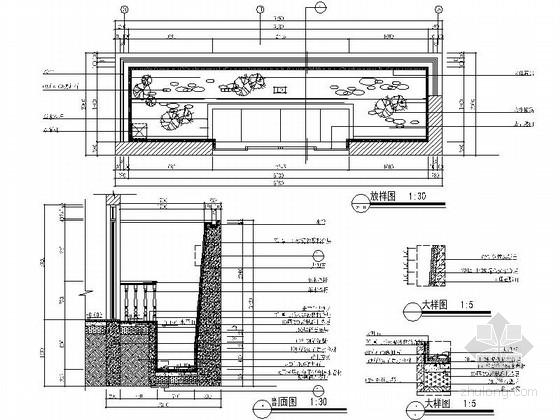 [杭州]某复古欧式三层别墅室内设计施工图 节点