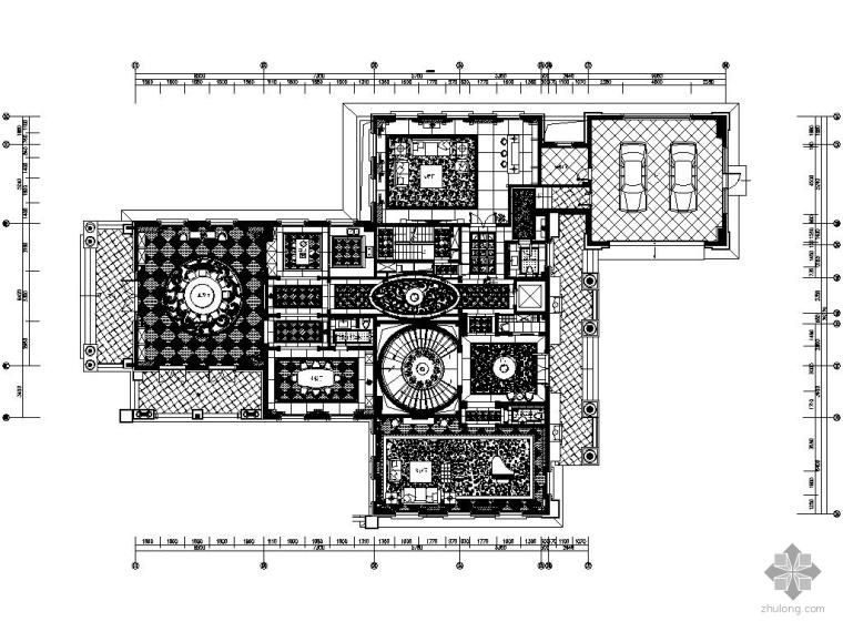 知名楼盘三层豪华别墅施工图(含实景)