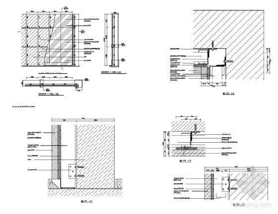 结构墙表面木饰面结构图