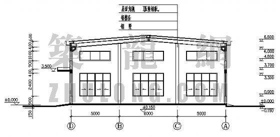 某刺绣公司厂房结构图