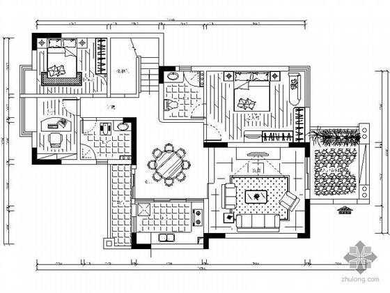 中式风格复式楼室内装饰图