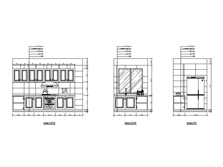新中式样板房设计CAD施工图(含效果图)_6