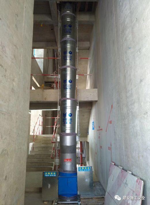 绿色施工的首选——垂直建筑垃圾运输管道