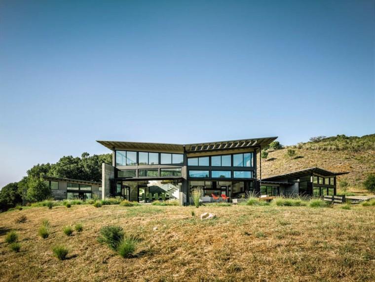 vray室外玻璃材质资料下载-加利福尼亚蝴蝶屋
