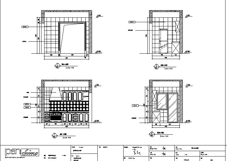 重庆廊桥水岸3K户型室内设计施工图