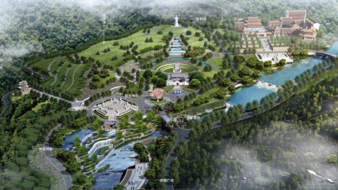 [广东]岭南佛教生态禅宗墓园图纸景观设计文化弱点方案cp图片
