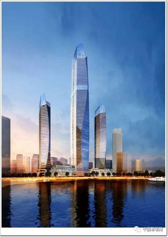 """369米青岛第一高,海天中心蓝色玻璃幕墙营造""""鳞片""""光感"""