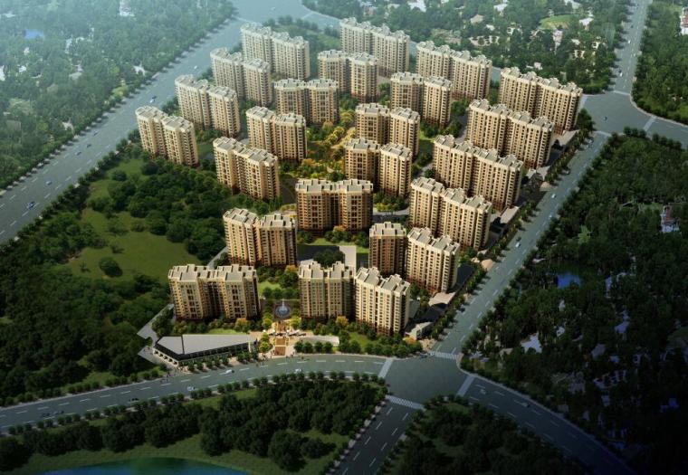 [上海]普陀区上粮欧陆风格居住区建筑方案文本设计