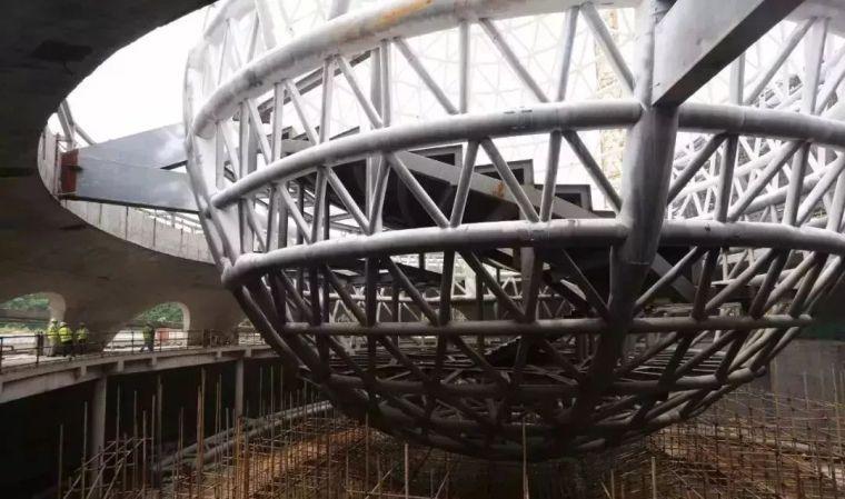 世界最大天文馆之一——上海天文馆主体钢结构工程收尾_6