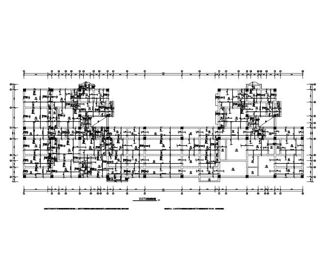 7层框架结构学校沿街及住宅楼项目建筑结构施工图(CAD、38张)