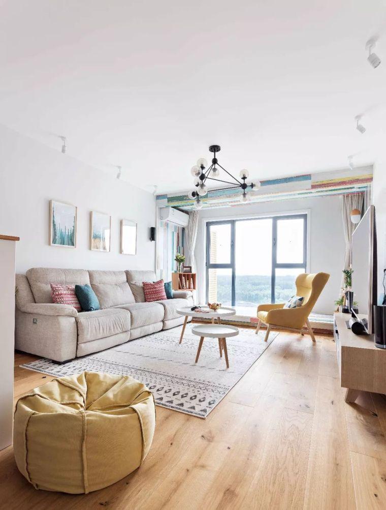 93㎡北欧风3室2厅,清新惬意的乐活小筑
