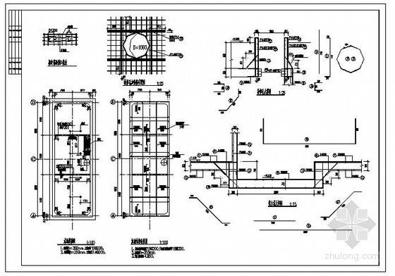 某办公楼附属水池结构设计图