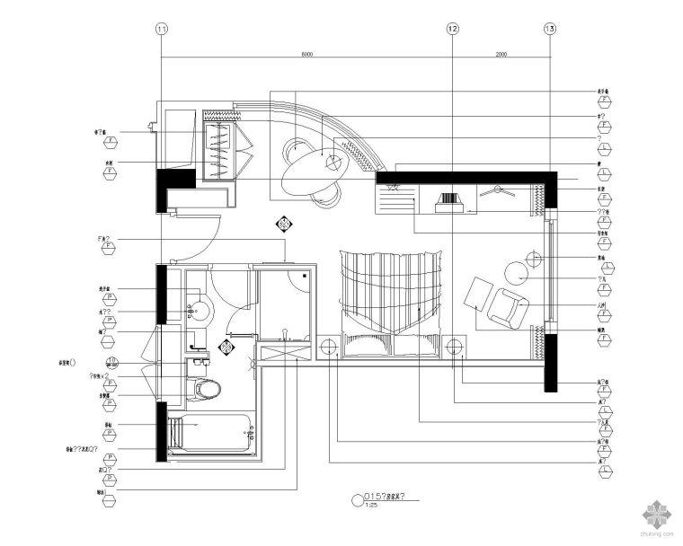 标准客房平面图Ⅲ