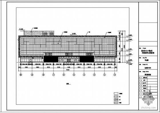 某市体育中心全民健身中心结构幕墙工程图纸