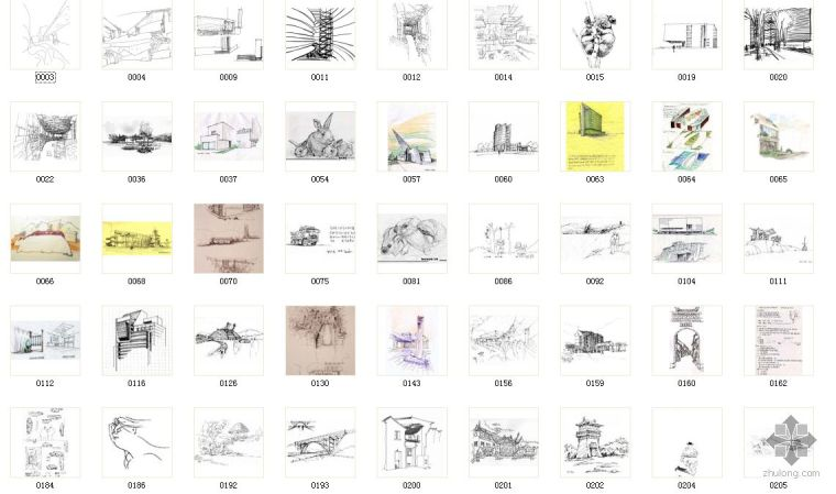 建筑大师概念设计手绘作品集