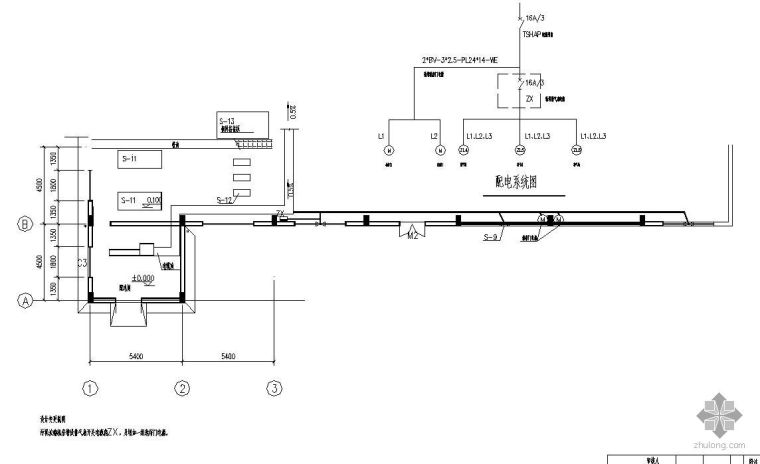 某污水处理厂污泥浓缩脱水机房接地线平面大样图