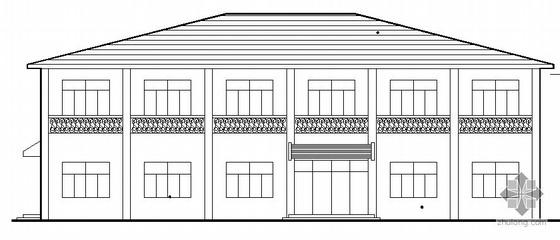 [江苏]某二层小型办公楼建筑方案图