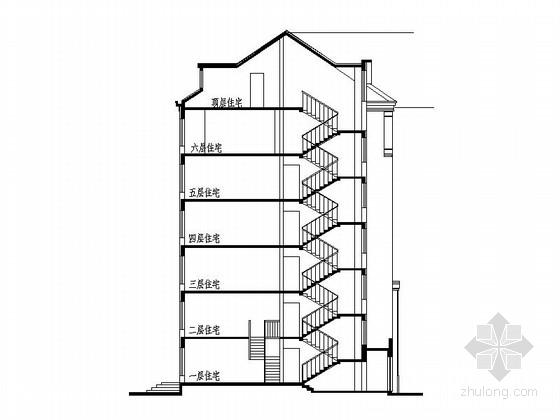 新古典住宅区规划剖面图