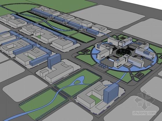 影视中心建筑SketchUp模型下载-影视中心建筑