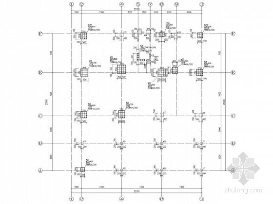 [南昌]带地下室框架商业住宅结构施工图