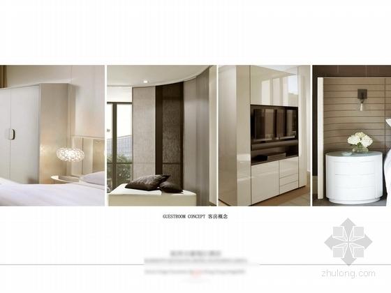 [杭州]某五星级酒店客房及电梯厅设计方案 客房概念图