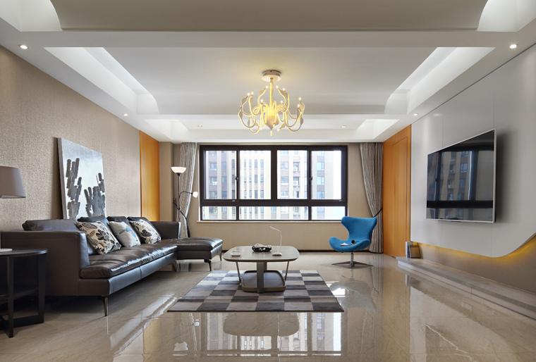 客厅-226㎡简约三居『简单极致』第1张图片
