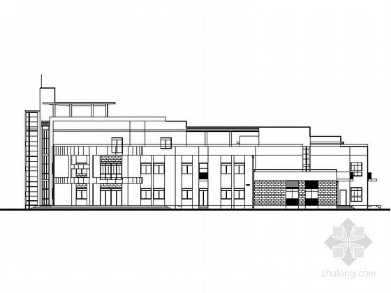 [上海]三层连廊式新颖造型9班幼儿园及托儿所建筑施工图(含水暖电)