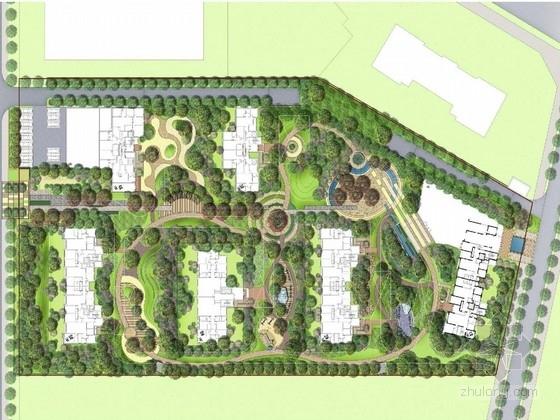 [乌鲁木齐]现代多元的自然彩色居住区景观规划设计方案