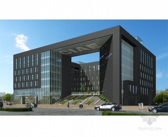 [北京]八层框架剪力墙结构研究院综合楼结构施工图(中空景观庭院)