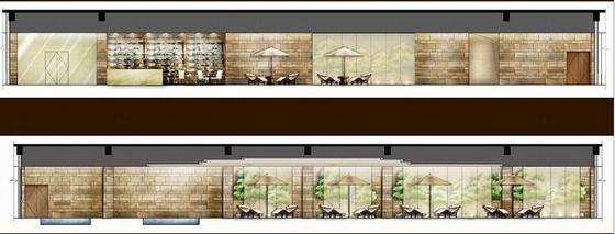 [贵阳]总投资10亿全球豪华五星级酒店设计方案游泳池立面图