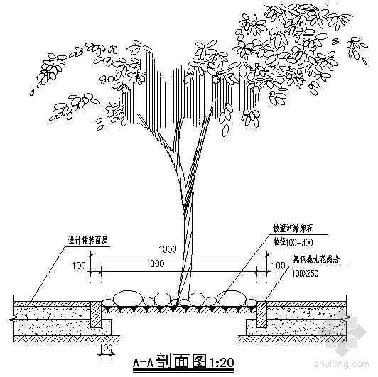 方形树池2详图