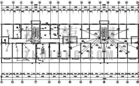 底层商铺住宅楼电气图