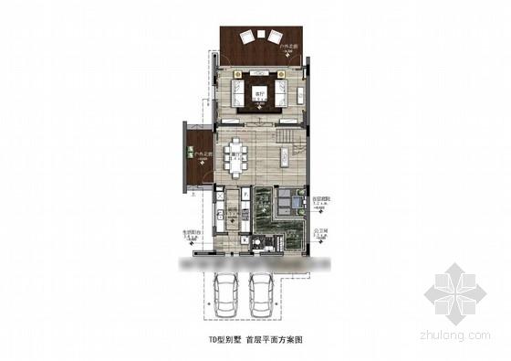 [珠海]海滨花园现代三层别墅设计方案图