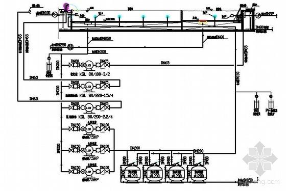 某海湾泳池工艺流程图