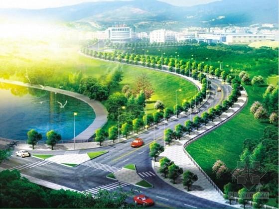 科研基地双向二车道道路工程施工图39张(知名大院 含交通设施)