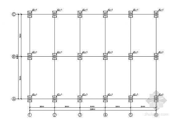 某18m跨钢结构市场结构图纸
