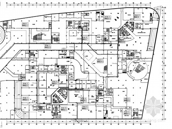 [青岛]知名商业综合体广场强弱电施工图272张(4栋超高层 裙楼塔楼 含设计文本效果图)
