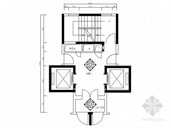 [广东]精品现代住宅标准层电梯厅竣工图