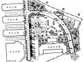 湖北某职业技术学院北门广场景观设计施工图