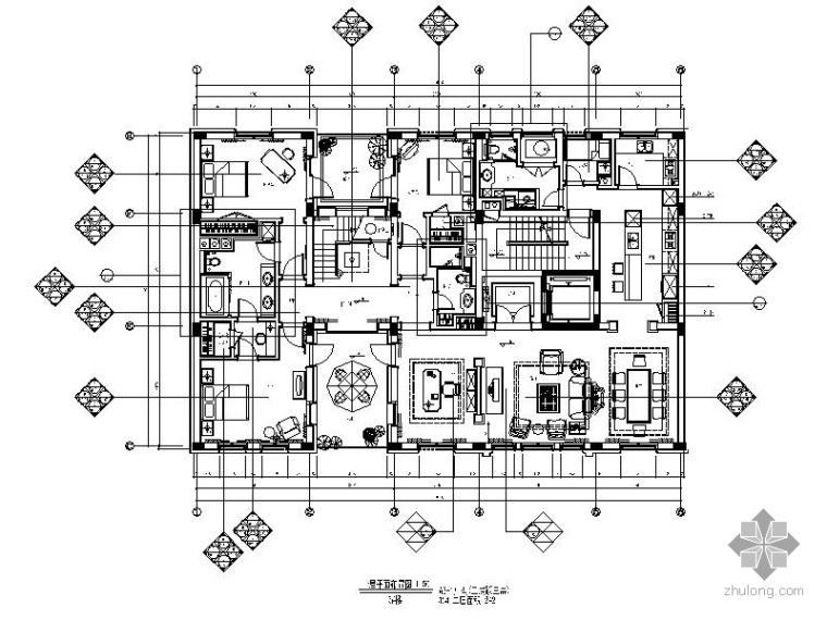 [杭州]精装跃层样板房室内装修图(含效果)