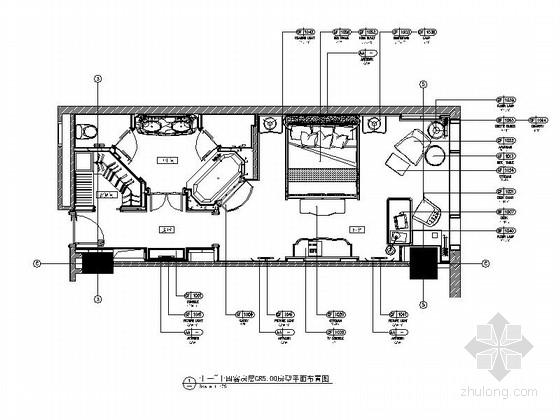 四星级酒店客房装修施工图