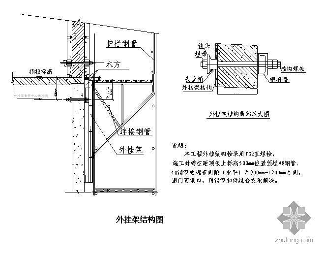 北京某高层外挂架施工方案及计算