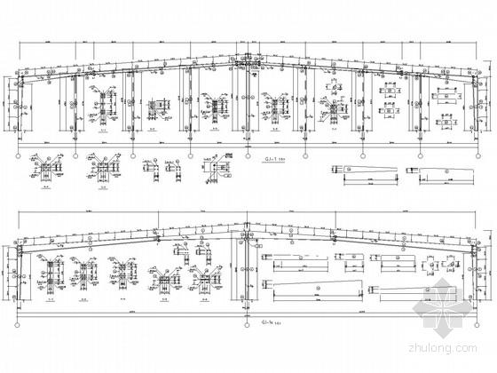 40米跨门式刚架厂房结构施工图(含建施)