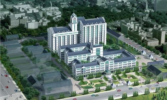 [绍兴]高层坡屋顶市级医院建筑设计方案图(含效果图)