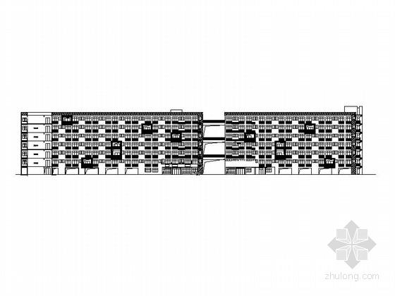 [浙江]现代风格高等院校学生宿舍楼建筑施工图(6层24.4米)