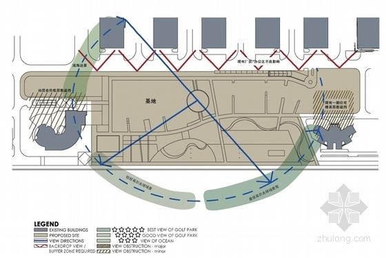 超高层现代风格住宅区分析图