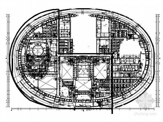[北京]某蛋形大剧院平面图