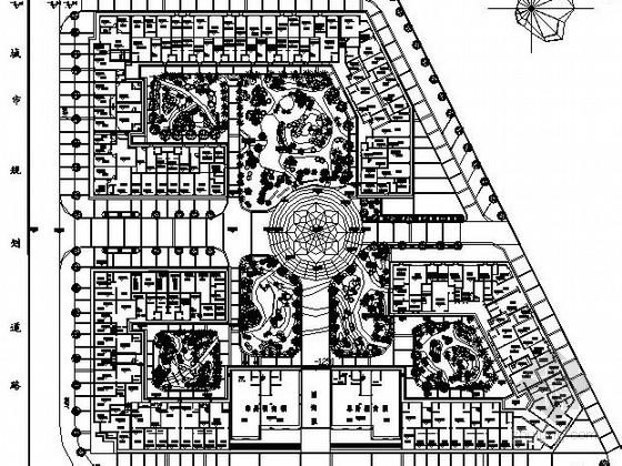 [广西]住宅区环境景观园林施工图
